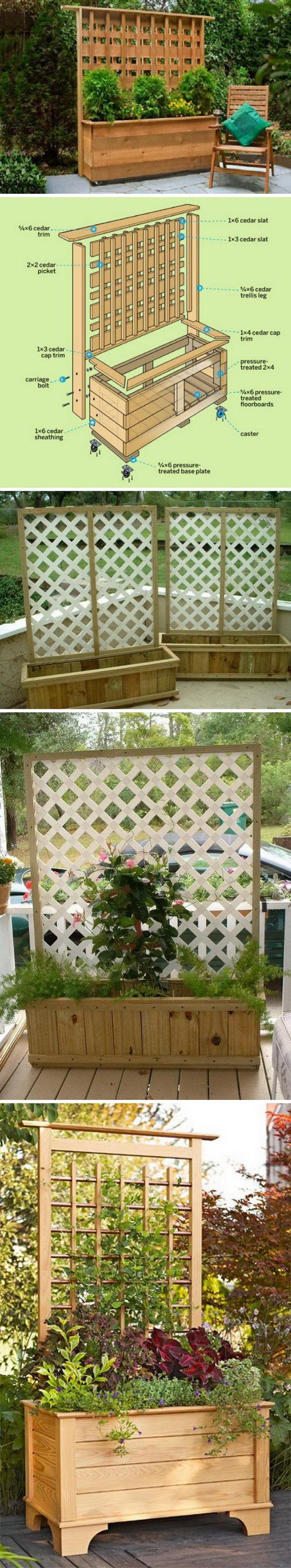 DIY Privacy Planter.