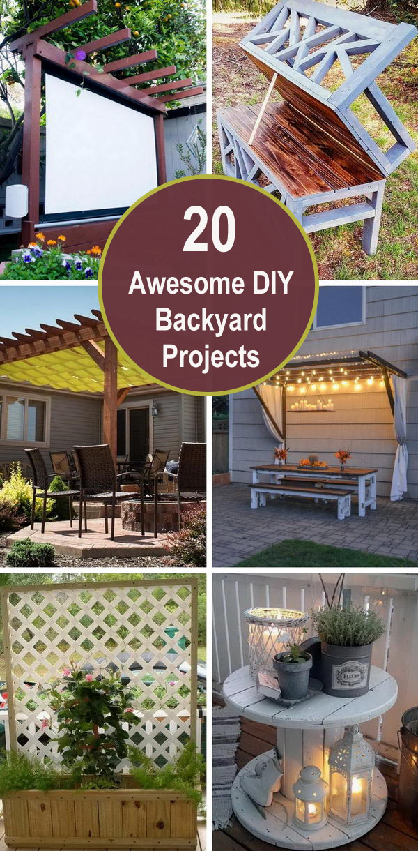 20 Awesome DIY Backyard Projects.