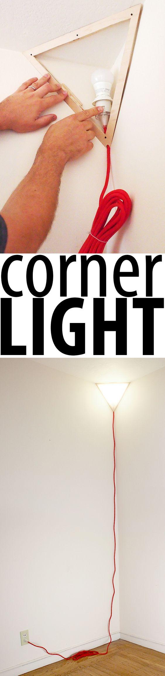 A DIY version of a $900 corner lamp.