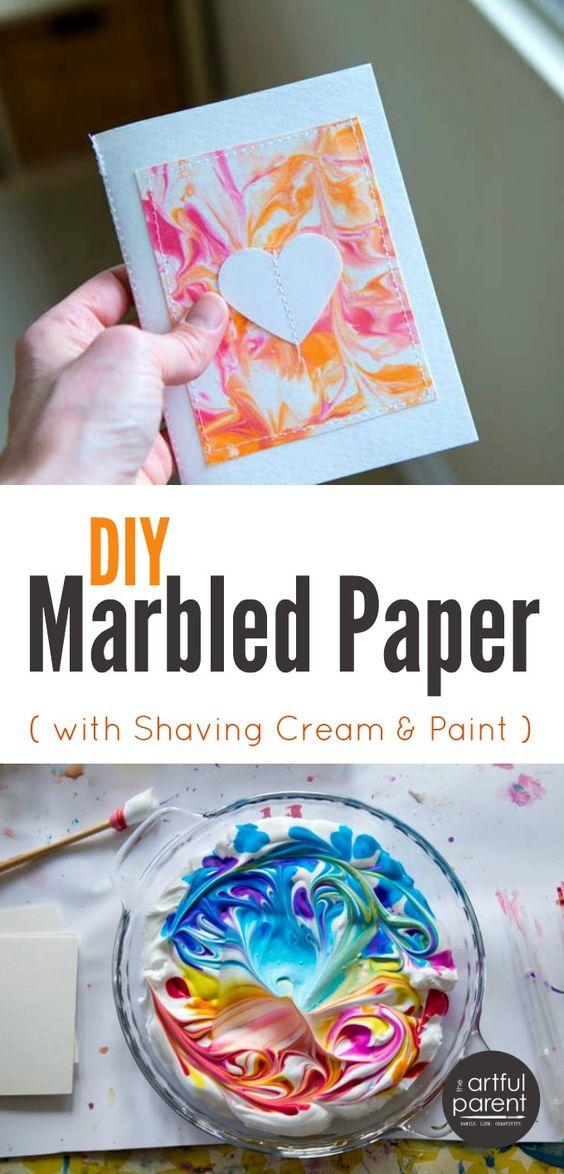 Easy DIY Marbled Paper.
