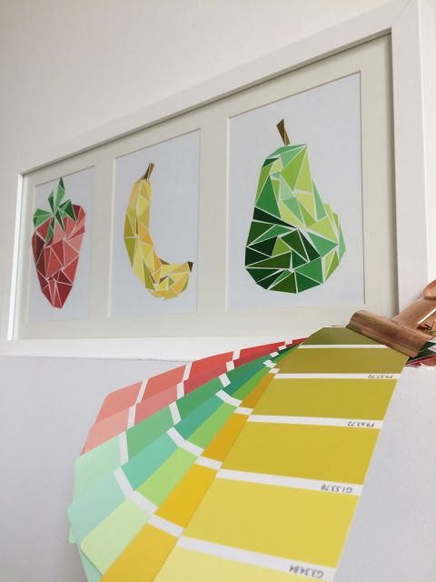 Collage Color Fruit Wall Art.