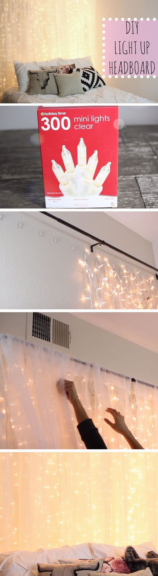 DIY Light Up Headboard.