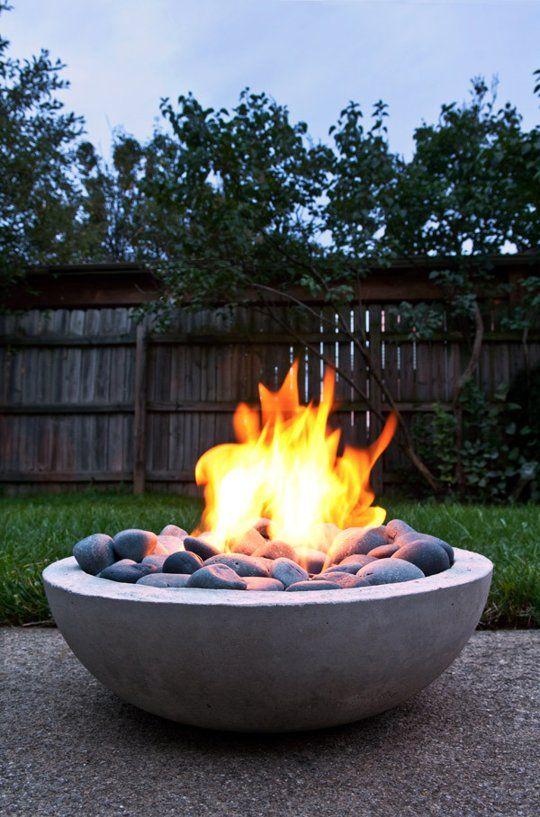 DIY Concrete Fire Pit.