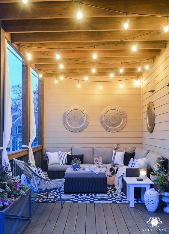 Twinkle Lights On The Back Porch.