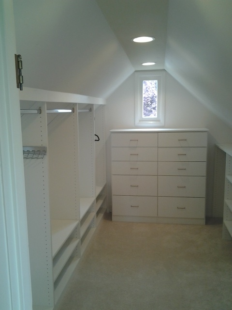 Add A Little Dresser In The Walk-In Attic Closet.