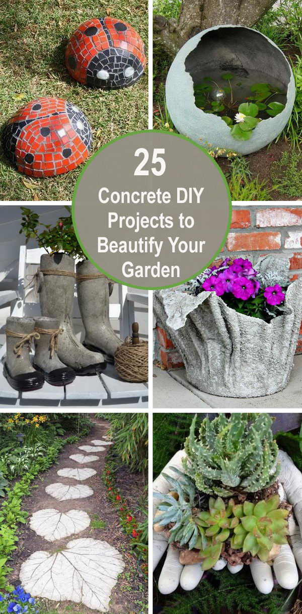 25 Concrete DIY Projects to Beautify Your Garden.