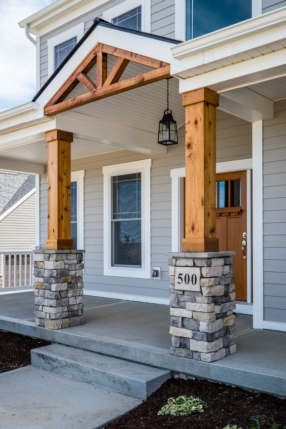 Rebuild Your Porch Columns with Wood and Stone.