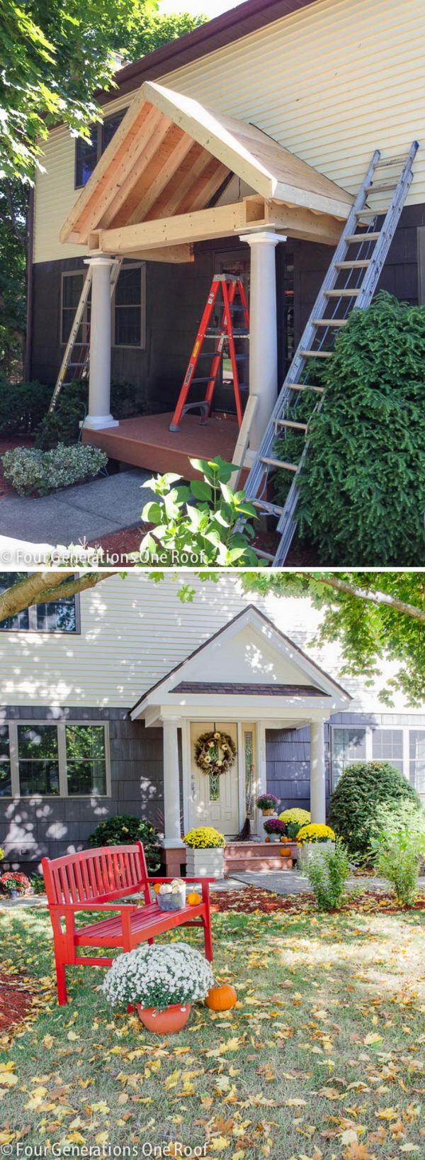 Spruce Up the Flat Colonial with a DIY Portico.