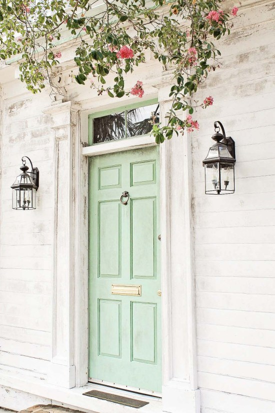 Add a Fun Pop of Color to Your Front Door.