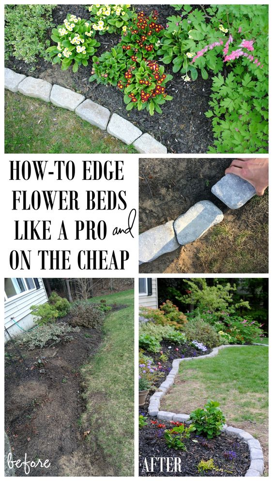 Add Edging to Flower Beds.