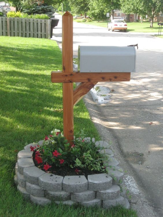 Beautify Your Mailbox by Creating a Flower Bed.