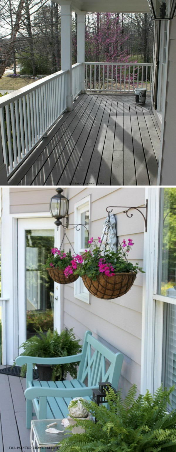 Make Your Porch More Inviting with Built-in Plant Hangers.