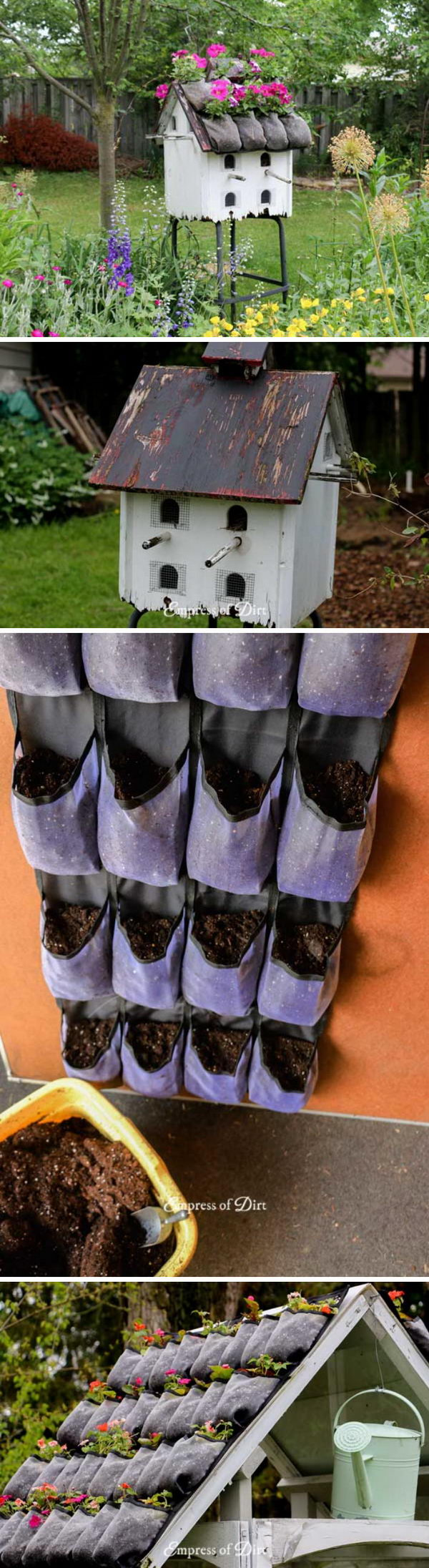 Add a Flower-Top Roof to Mini Greenhouse.