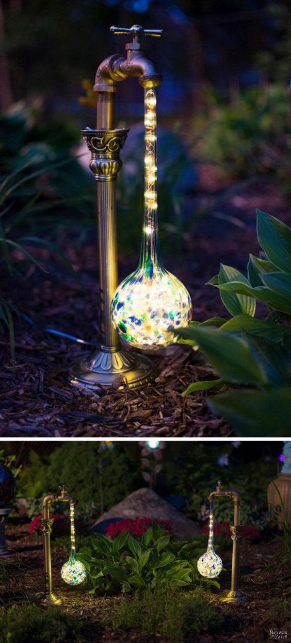 DIY Waterdrop Solar Lights.
