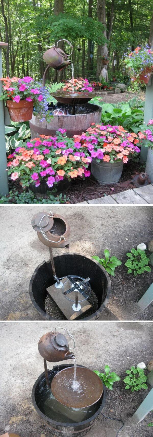 DIY Tea Pot Fountain.