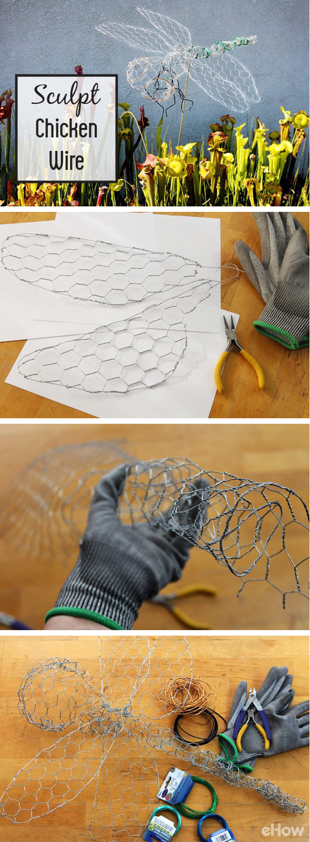 Make a Dragonfly from Chicken Wire.