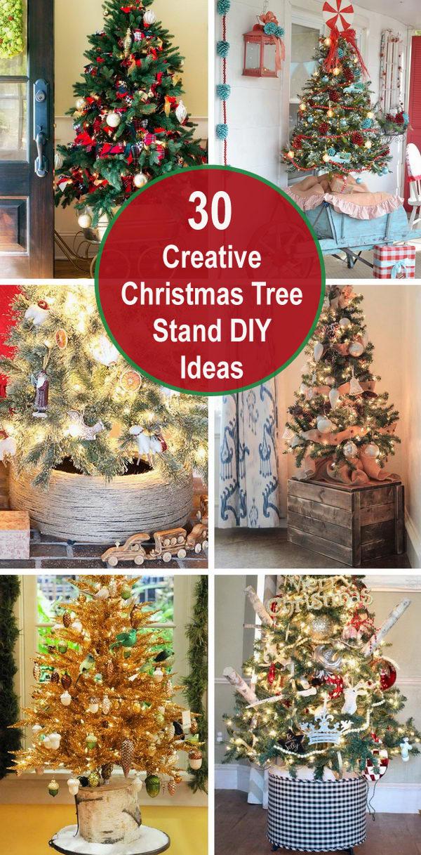 30 Creative Christmas Tree Stand Diy Ideas