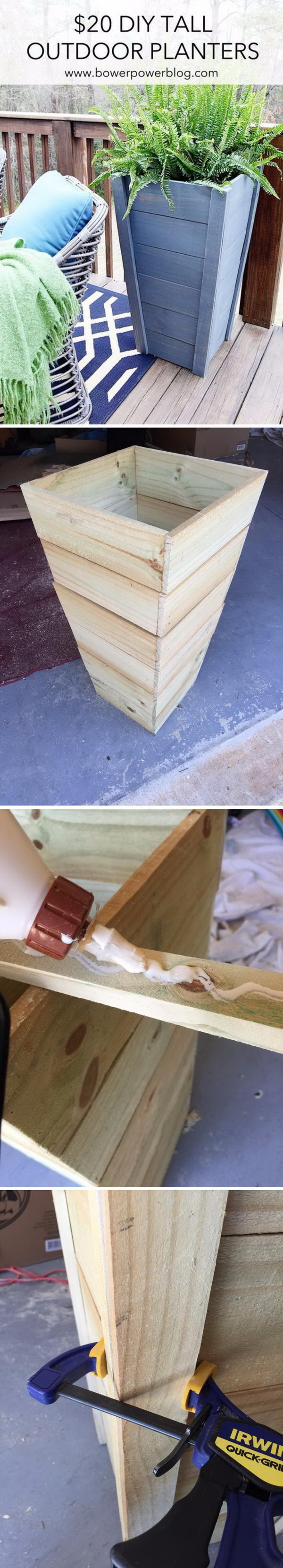 DIY Tall Planter Box.
