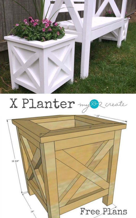 DIY X Planter Box.
