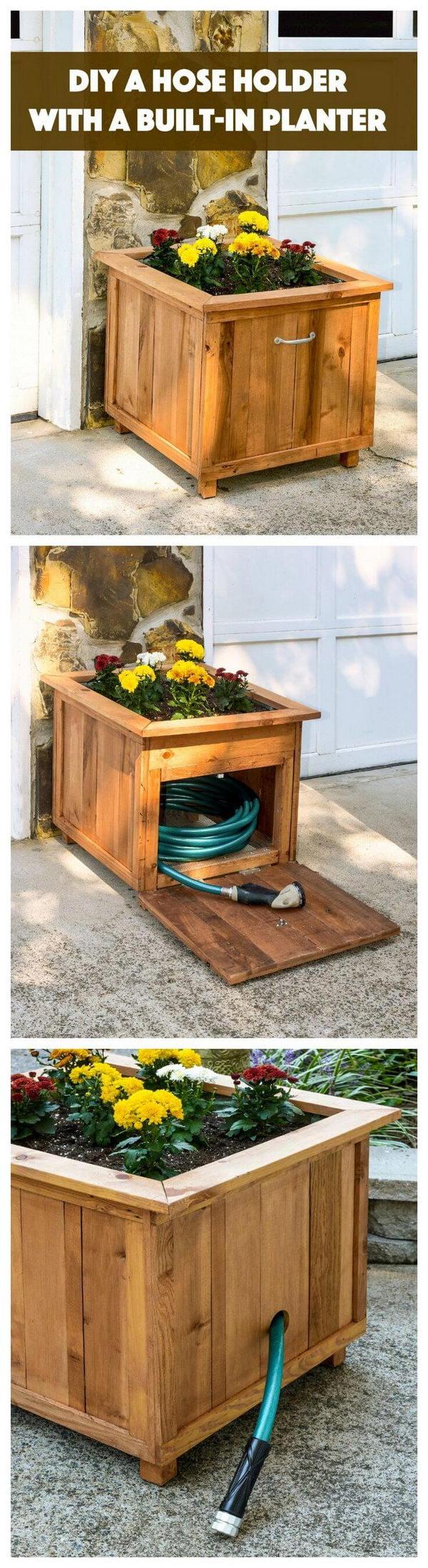 DIY Planter Box & Hose Holder.