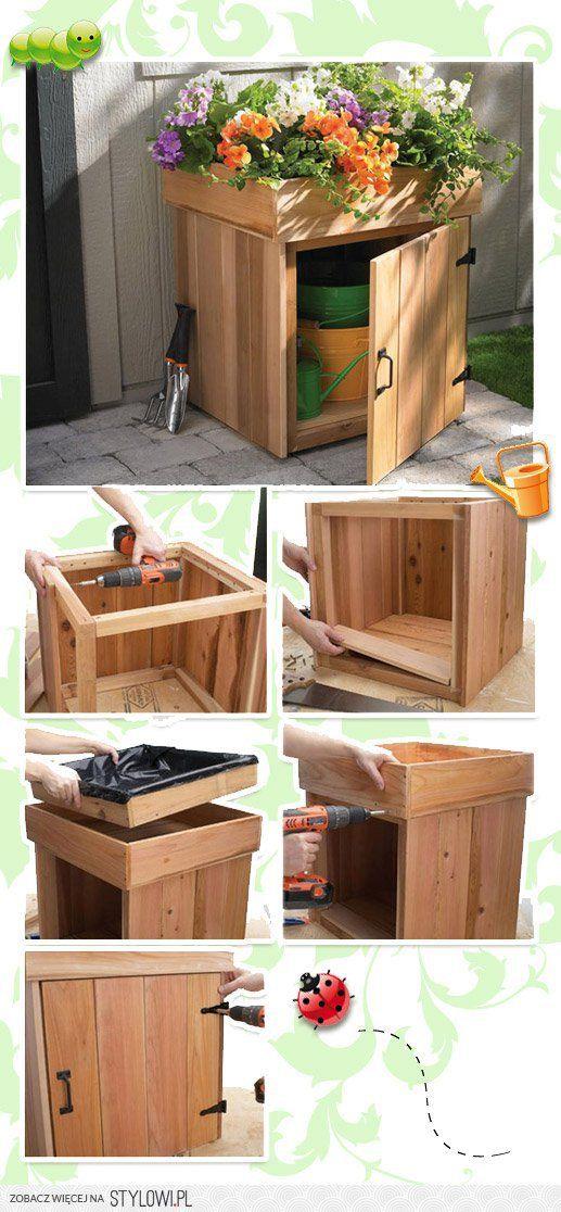 DIY Planter Box with Storage.