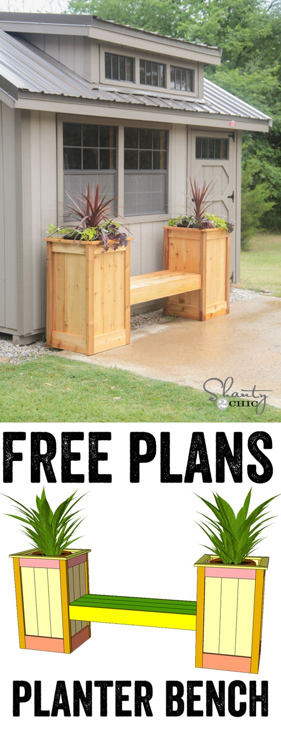 DIY Planter Box Bench.