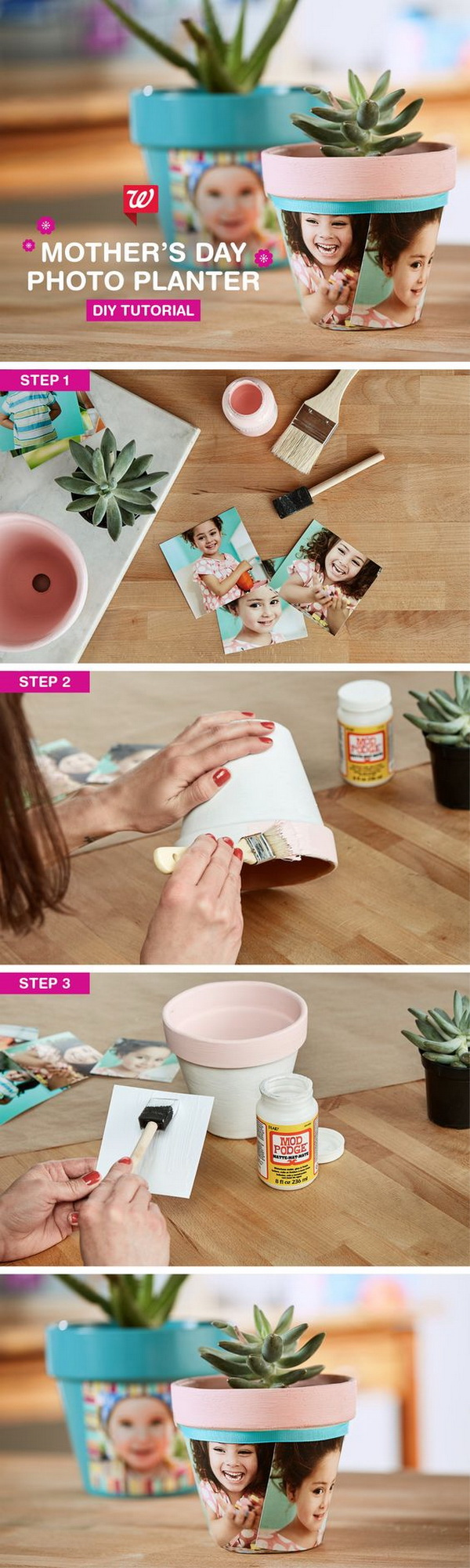 DIY Photo Planter.