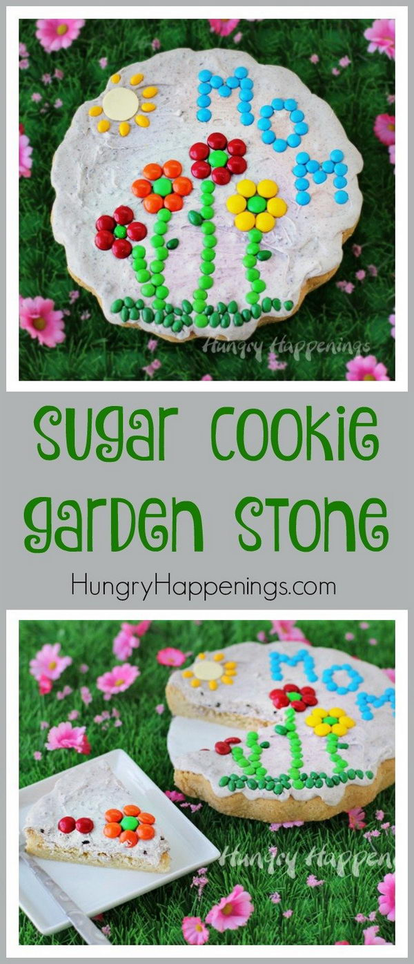 Sugar Cookie Garden Stone for Mother's Day.