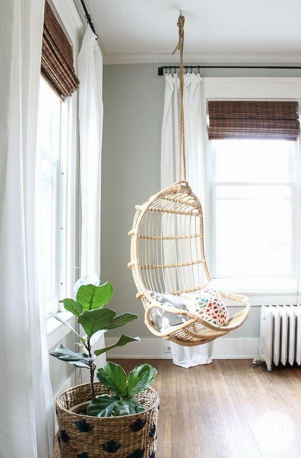 Corner Hanging Chairs.