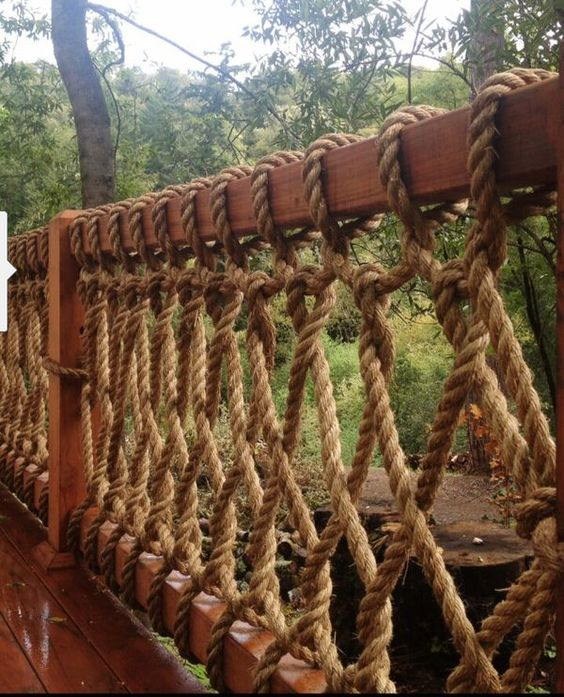 Safe But Simple Durable Rope Railing.