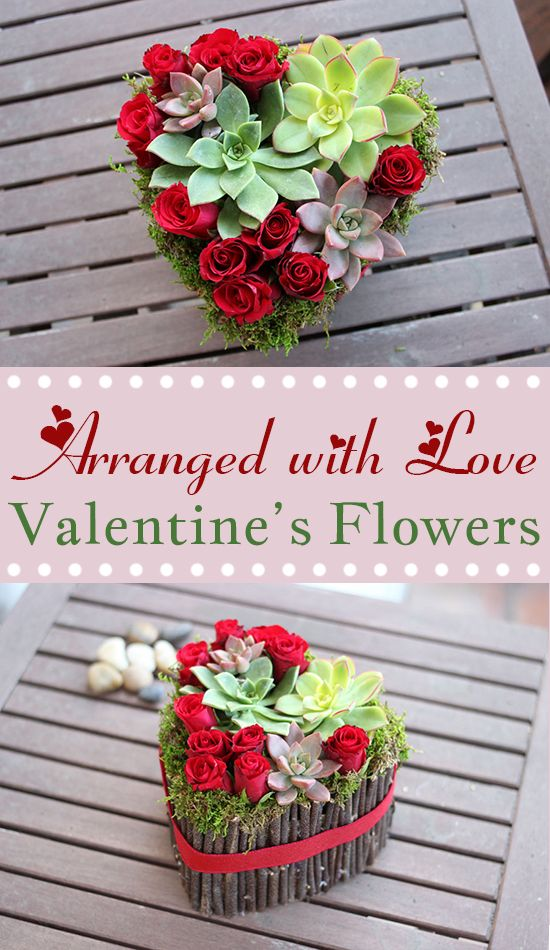 Personalized Valentine's Day Flowers.