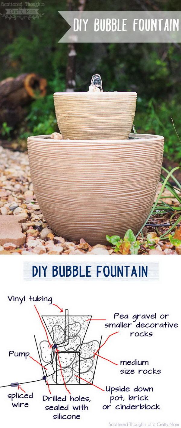 DIY Bubble Fountain in a Pot.