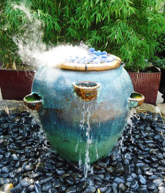 Strawberry Pot Turned Fountain.