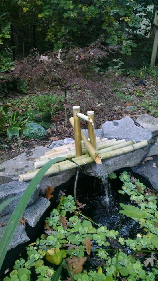 DIY Clacking Bamboo Water Feature.