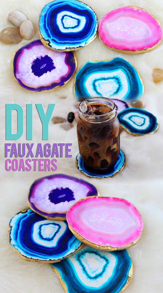DIY Agate Coasters.