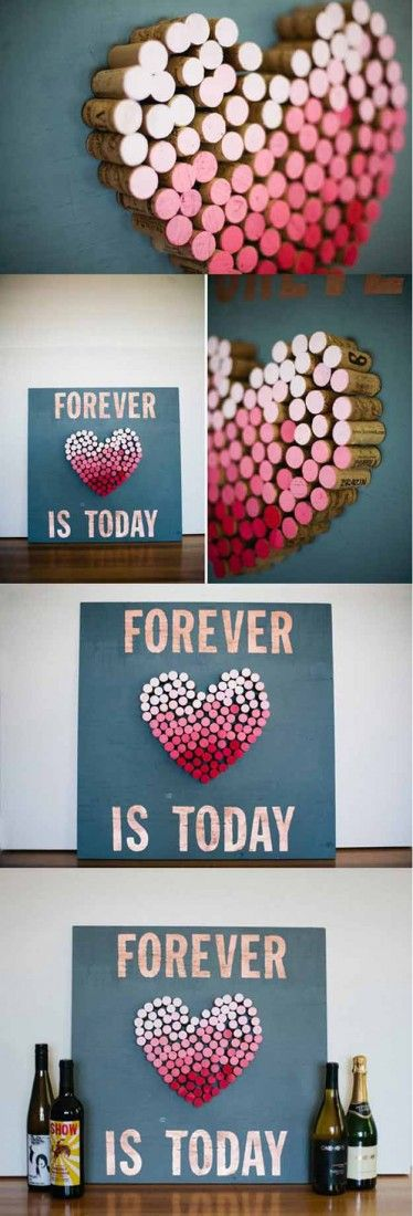 DIY Ombre Cork Art.
