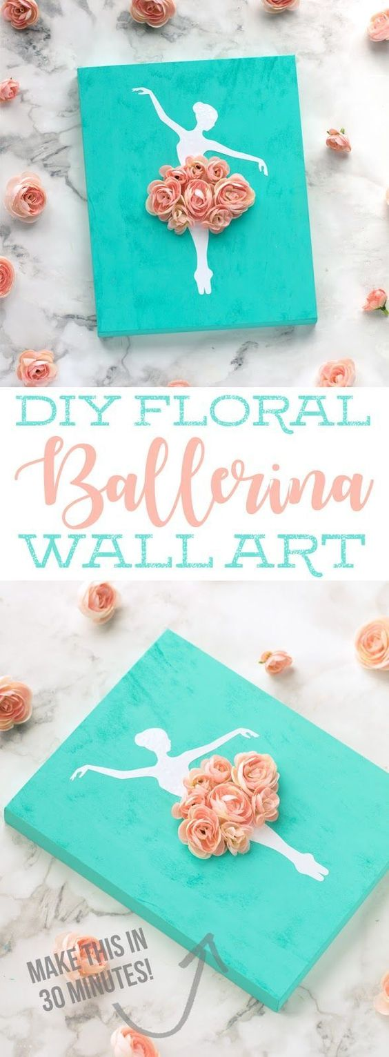 DIY Ballerina Wall Art.