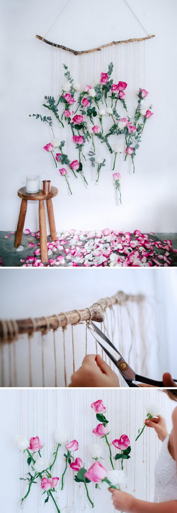 DIY Floral Vase Wall Hanging .