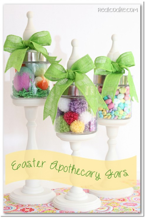 DIY Easter Apothecary Jars.