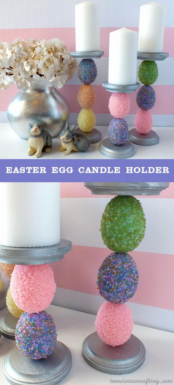 Easter Egg Candle Holder.