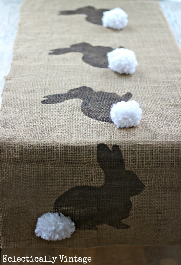 Burlap Bunny Table Runner.