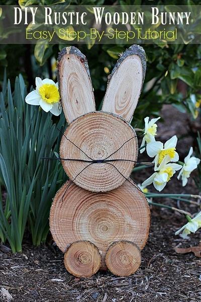 DIY Rustic Wooden Bunny.