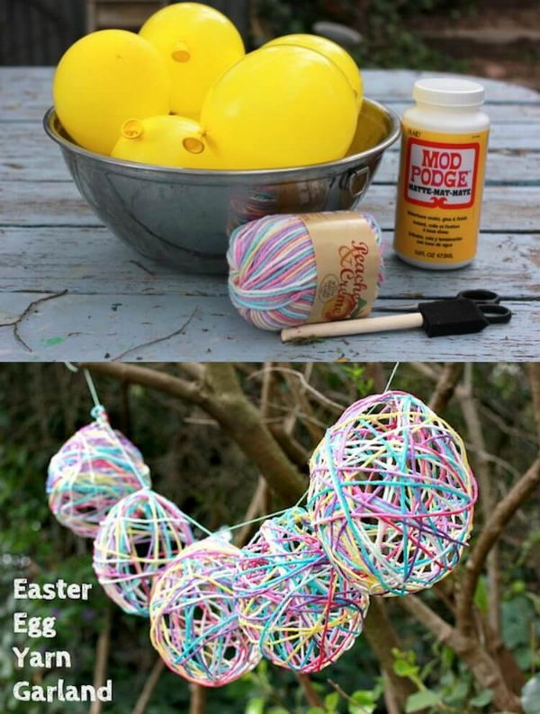 Yarn Egg Garland.