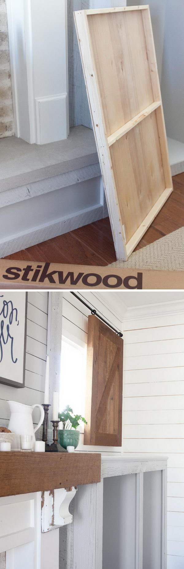 Sliding Reclaimed Wood Shutters.