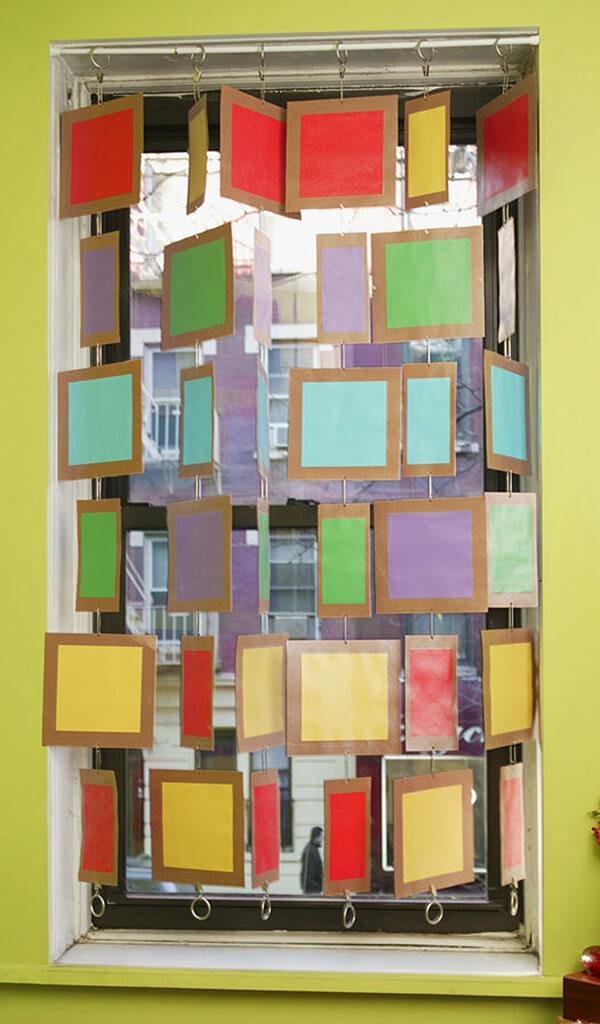 Craftsy Color Block Privacy Curtains.