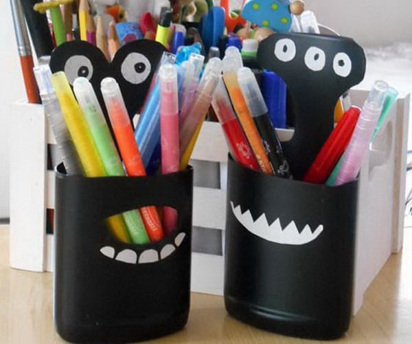 DIY Plastic Bottle Pencil Holder